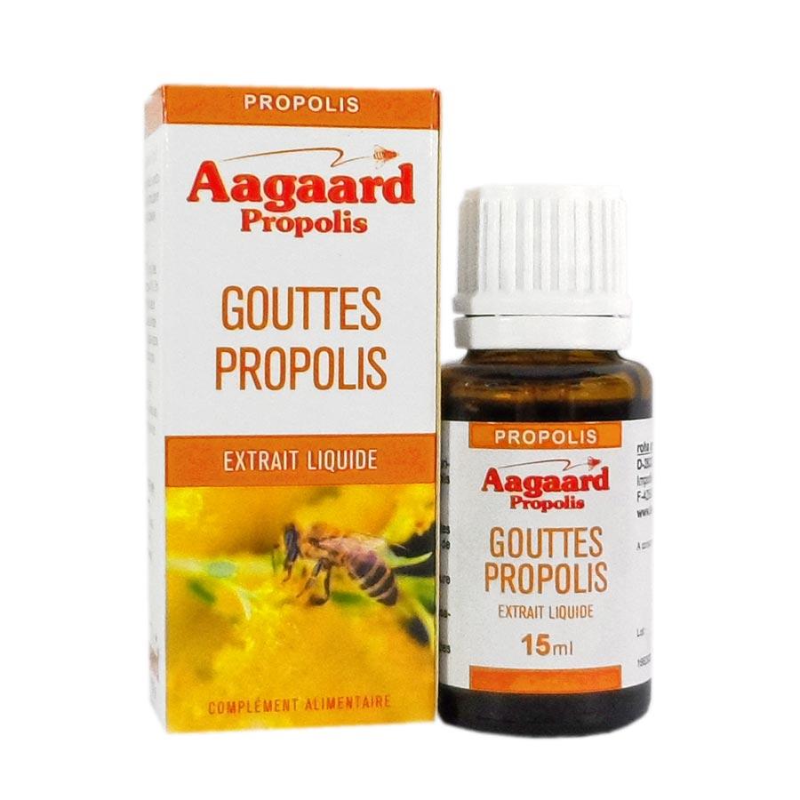 Extrait de Propolis Aagaard extrait liquide en gouttes vendue au Beaupré Biomonde Royan Saujon Vaux sur mer Saint Palais
