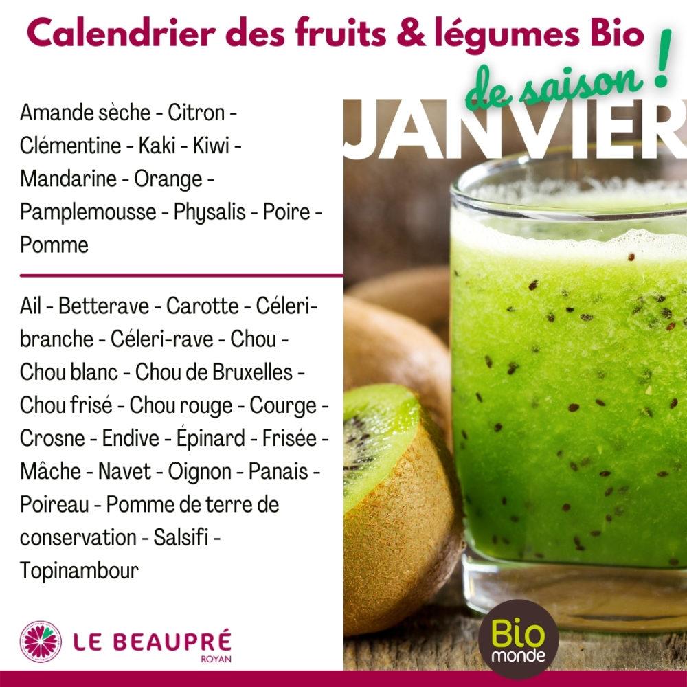 Fruits et légumes Bio magasin Biomonde Le Beaupré Royan Ail - Betterave - Carotte - Céleri-branche - Céleri-rave - Chou - Chou blanc - Chou de Bruxelles - Chou frisé - Chou rouge - Courge - Crosne - Endive - Épinard - Frisée - Mâche - Navet - Oignon - Panais - Poireau - Pomme de terre de conservation - Salsifi - Topinambour