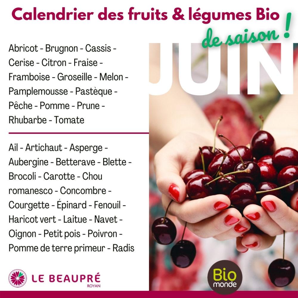 Fruits et légumes Bio magasin Biomonde Le Beaupré Royan Ail - Artichaut - Asperge - Aubergine - Betterave - Blette - Brocoli - Carotte - Chou romanesco - Concombre - Courgette - Épinard - Fenouil - Haricot vert - Laitue - Navet - Oignon - Petit pois - Poivron - Pomme de terre primeur - Radis